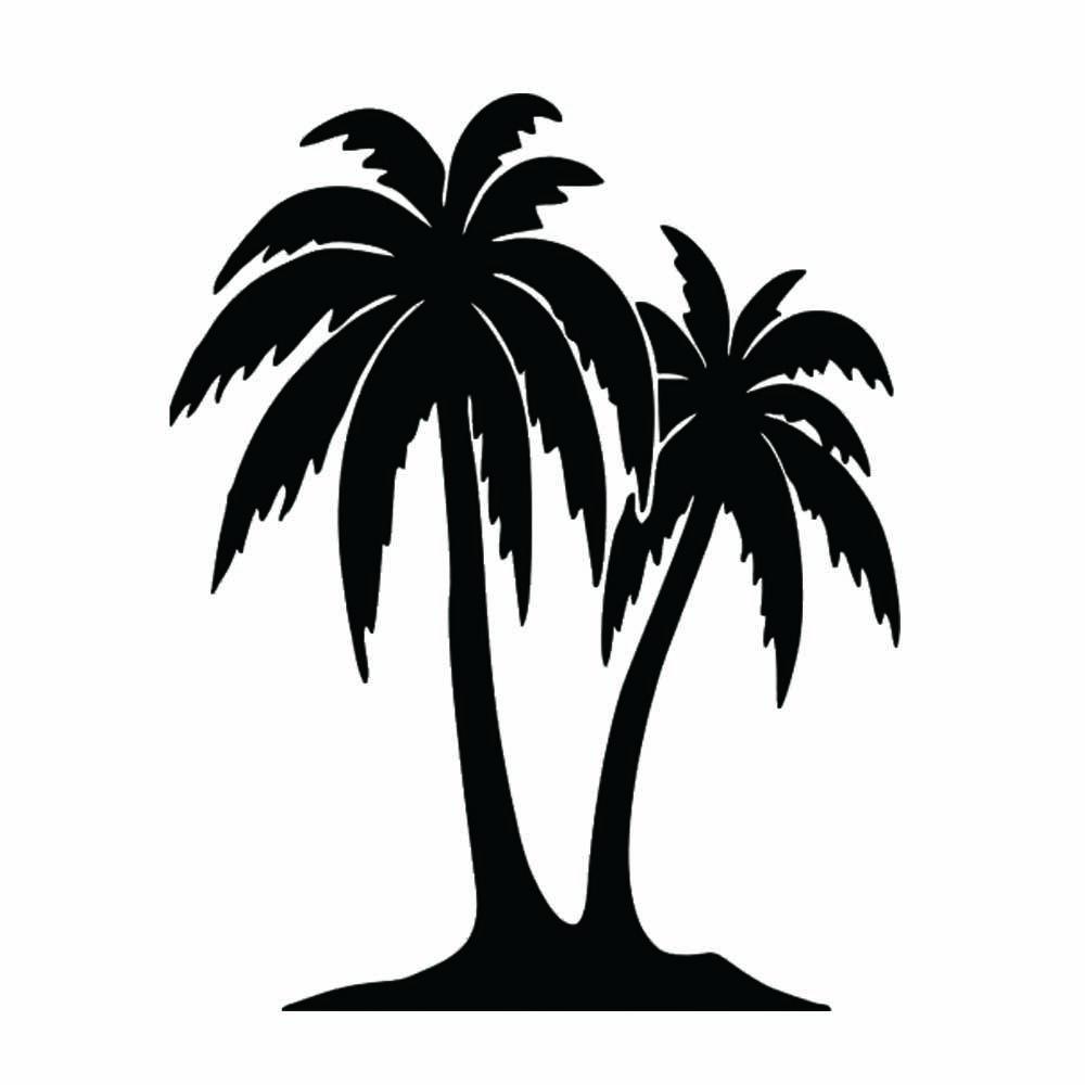 Palm Tree Sticker Fun Car Bumper Car Window Decoration Waterproof Accessories Personalized Decoration