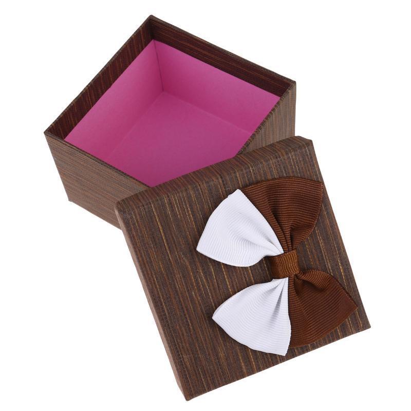 Plaza 4PCS caramelo caramelo caja de regalo hermosa caja de embalaje de papel para embalar de las cajas de almacenamiento Festival de fiesta de la boda