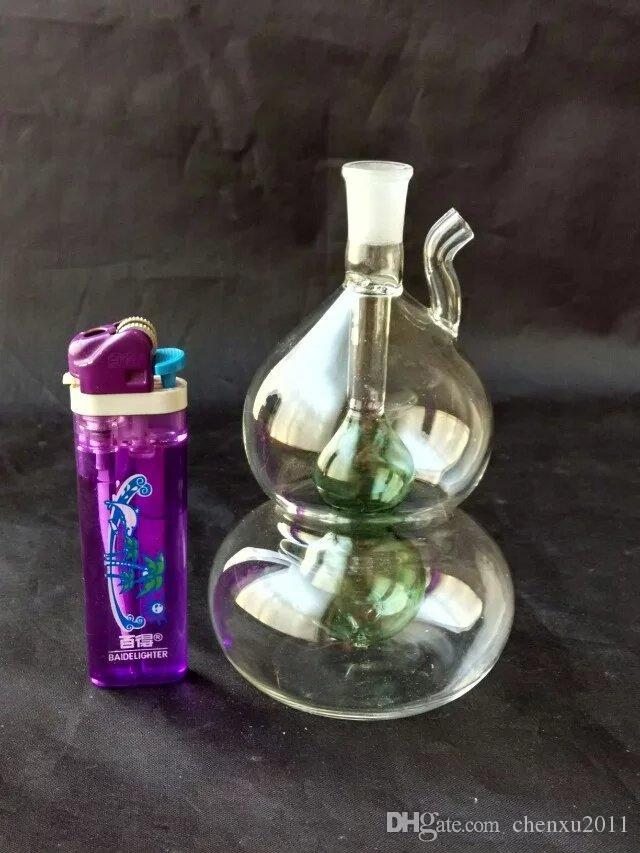 Yeni iki renkli vinç dilsiz cam nargile, saksı aksesuarları göndermek, cam bong, cam nargile, sigara, renk tarzı rastgele teslimat
