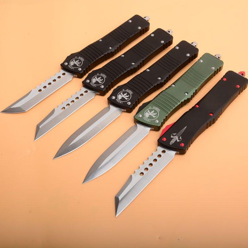 5 estilo micro combate troubo-don tech auto faca hellhound tanto lâmina alumínio lida com facas táticas engrenagem de sobrevivência facas