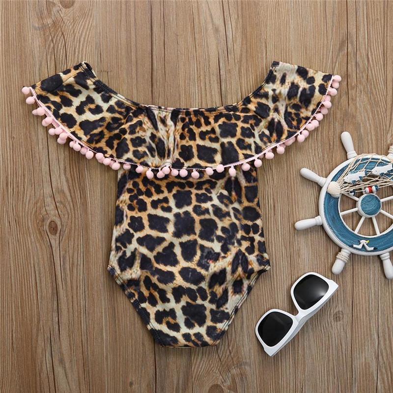 Baby Girl Bikini maillot de bain imprimé léopard Maillot de bain été d'enfants Maillots Tankinis Baby Girl Bikini enfants Beach Wear # 40