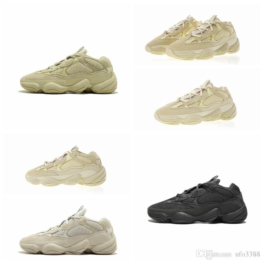 2019 New sel 500 Kanye West Chaussures de course super Lune jaune fard à joues rat du désert 500 hommes sport design de luxe Sneakers chaussures femmes Casual