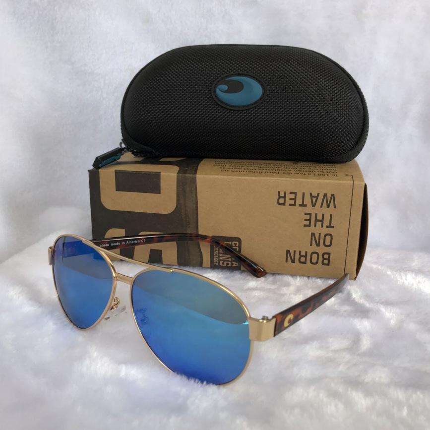 Mens Costa gafas de sol 9035 gafas de sol de piloto ROVO colorido lente polarizada Surf / Pesca gafas de sol de diseño de lujo las mujeres BoxCase