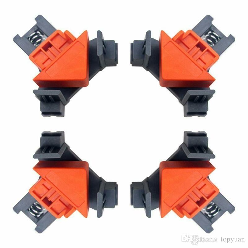 4pcs Tratamiento de la madera de 90 grados de ángulo recto de la abrazadera del clip Marco de imagen rápida de la esquina de la abrazadera