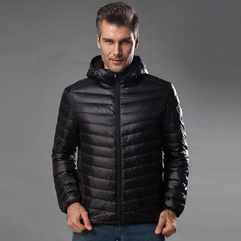 Con cappuccio Giacche luce sottile Anatra 2019 uomini giù Filler Autunno Inverno Maschio allentato cappotti Plus Size 4XL 5XL 6XL per Peso: 50-145kg