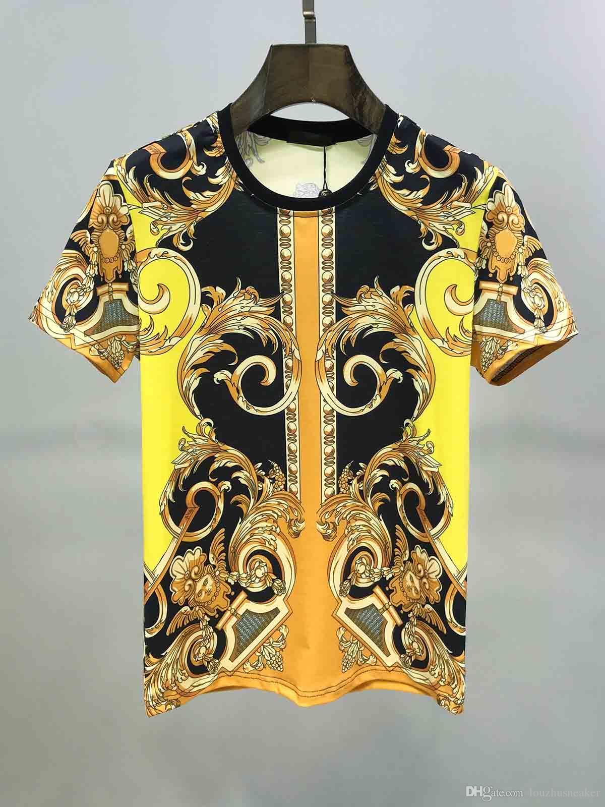 20SS mode marque T-shirt vêtements haut de gamme de style européen et américain des hommes d'impression à manches courtes étiquette haut de la mode Méduse