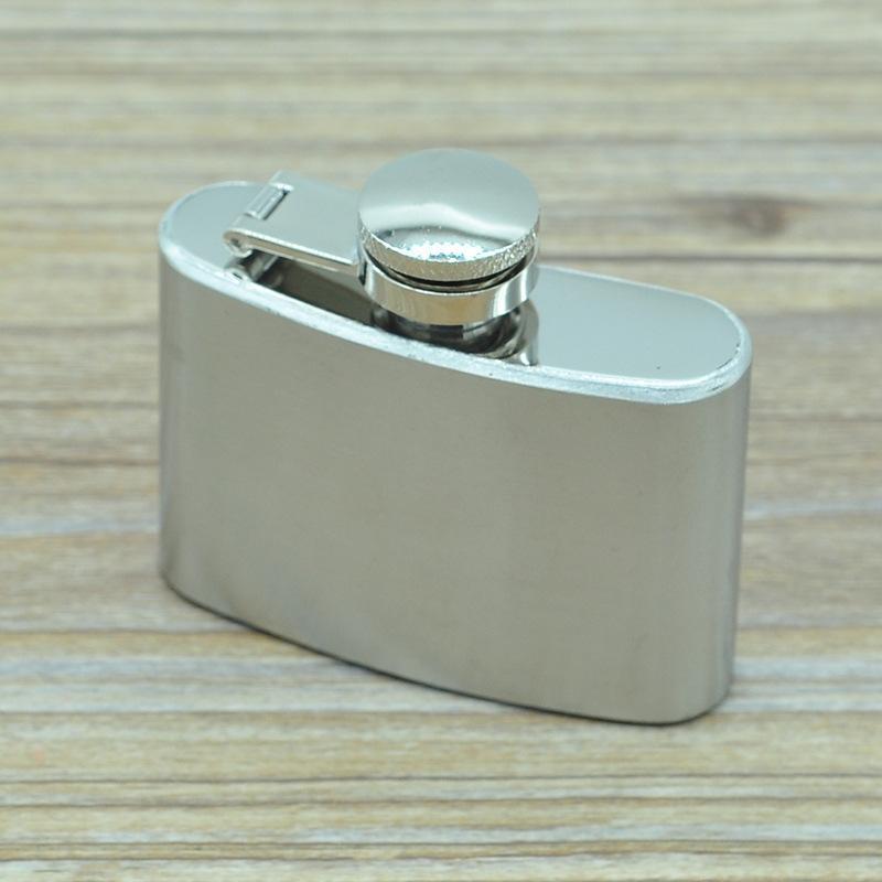 Botellas de cadera 2 oz de acero inoxidable frasco de la garrafa portátil al aire libre Pila de agua bendita whisky del pote del vino del alcohol con la Caja al por mayor