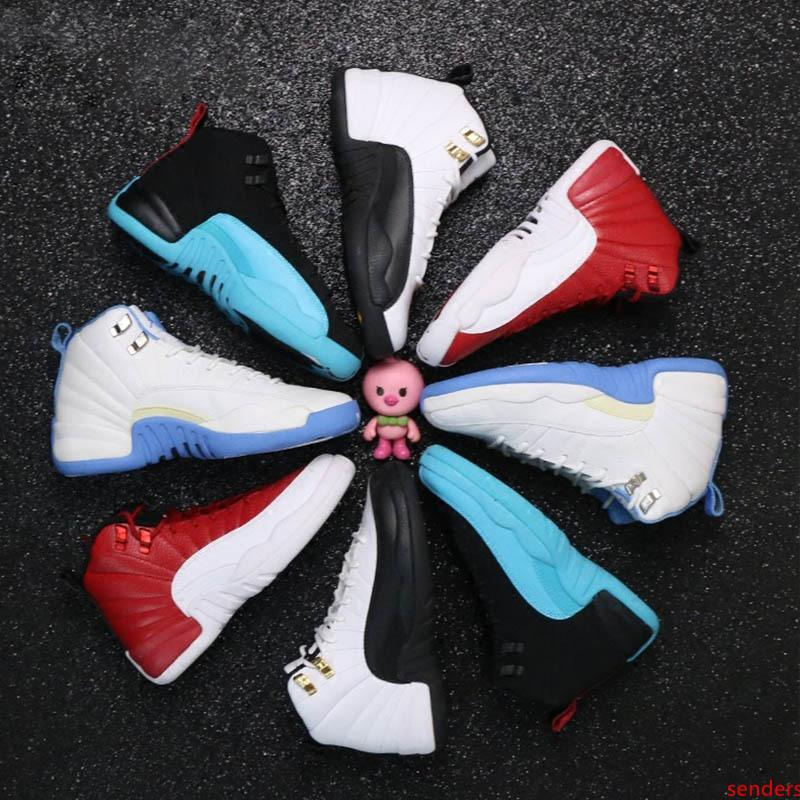 shoes 12s Basketball shoes mans women OVO white GS Barons Wolf Grey flu game taxi playoffs french blue gym red Sneakers