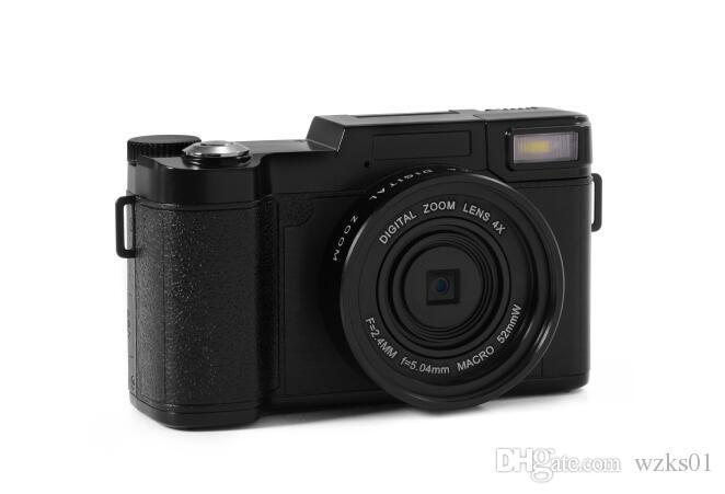2019 24MP HD semi-digital SLR professional digital camera, 4x telephoto fisheye and wide-angle lens camera macro HD camera