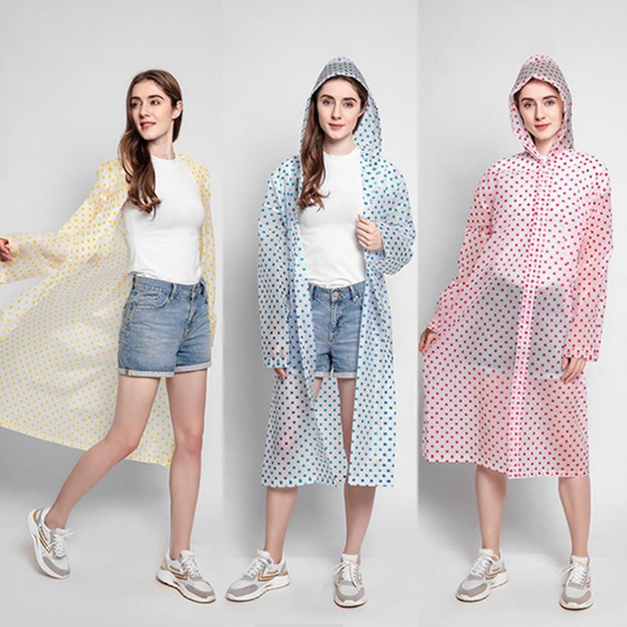 Punto Moda Impermeable onda con el viaje Hat reutilizable de campaña debe Rainwear EVA unisex adulta del impermeable para la Mujer Hombre HHA1264