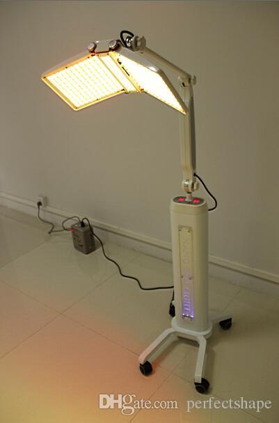 Hochwertige bodenstehende professionelle LED PDT Bio-Licht-Therapie-Maschine Rotlicht + Blaulicht + Infrarot-Licht-Therapie