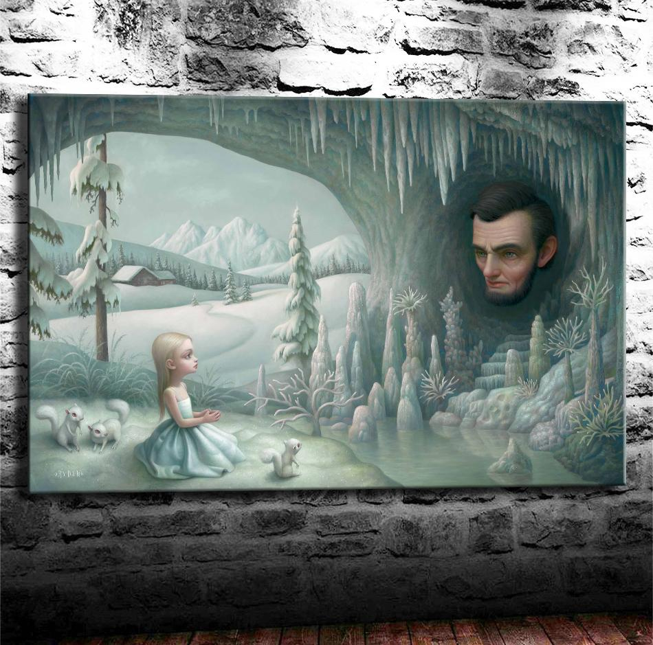 Mark Ryden, Pop Surrealism -9,1 Pezzi Stampe su tela Wall Art Dipinto ad olio Home Decor (Senza cornice / Con cornice) 24X36