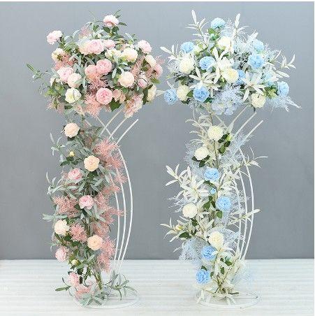 2Pcs/Lot Flower Vases Table Metal Vase Plant Dried Floral Holder Flower Pot Road Lead for Home/Wedding Corridor Decoration