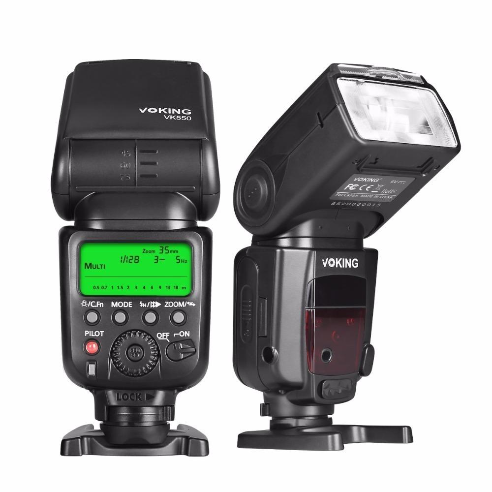 VK550 ETTL الرقيق فلاش الوضع اليدوي LCD العرض و speedlite لكانون EOS المتمردين 5DS 5DSR 5S مارك الرابع 5D مارك الثالث 6D 6D