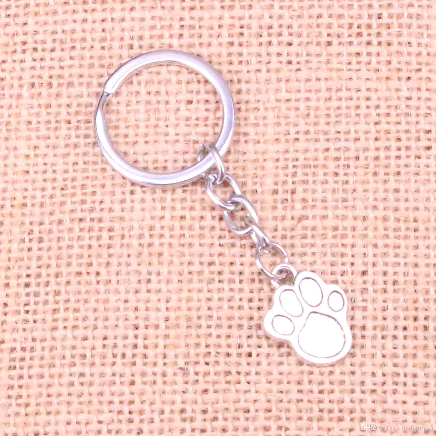 Новый брелок 22 * 17мм собака лапу Подвески DIY Мужчины автомобилей Key Chain Кольцо держатель брелок Сувенирная подарка ювелирных изделий