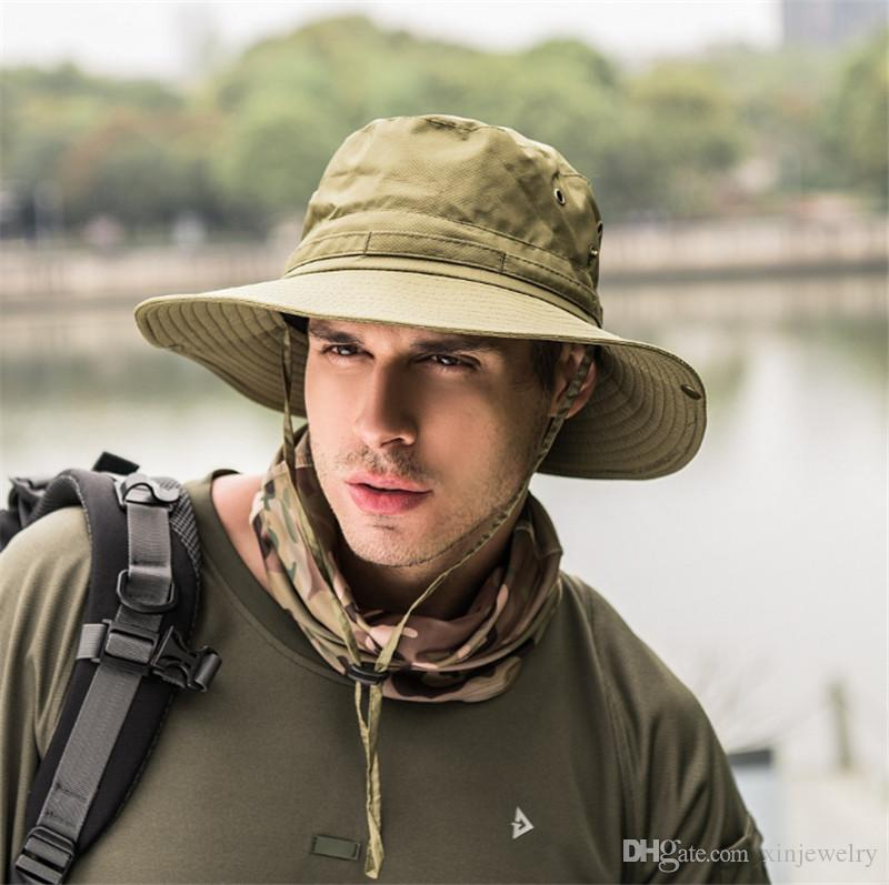 Outdoor Folding Hat Men Women Winter Windproof Shade Mountaineering hat Fisherman High Quality Wide Brim hats