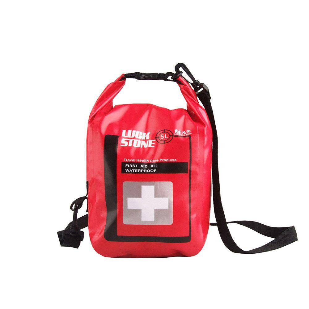 Portátil Ao Ar Livre 5L Material de Primeiros Socorros Sacos À Prova D 'Água Saco de Viagem Pacotes de Sobrevivência de Acampamento Caminhadas Produtos Médicos Sacos de Armazenamento Seco