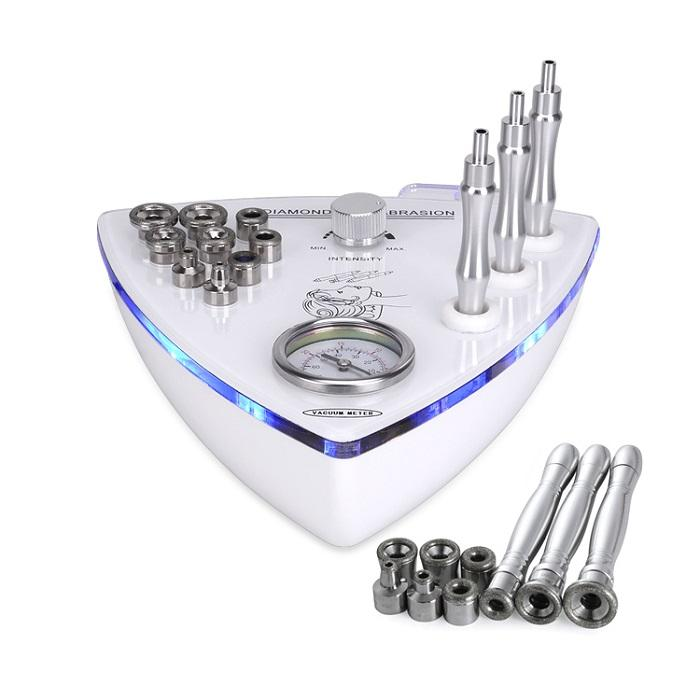 Diamond Skin Peeling Microdermabrasion Facial Machine For Face Lifting Wrinkle Removal With 3pcs Diamond Wands And 9pcs Dermabrasion Tips