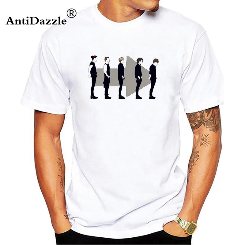 One Direction T shirt 1d Fashion Summer Casual Girl Short Sleeved soft material