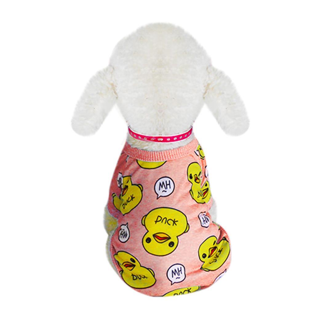 Shirt Moda Pet Clothes Dog Pet Primavera E Verão Pattern Duck Two-legged roupas para cachorros Costumes acolhedores Pet Acessórios Cachorro