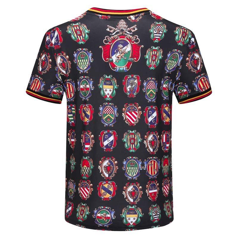 2020ss primavera e l'estate nuovo cotone di alta qualità di stampa girocollo manica corta T-shirt pannello Dimensioni: S-m-L-XL-XXL-XXXL Colore nero TK4 bianco