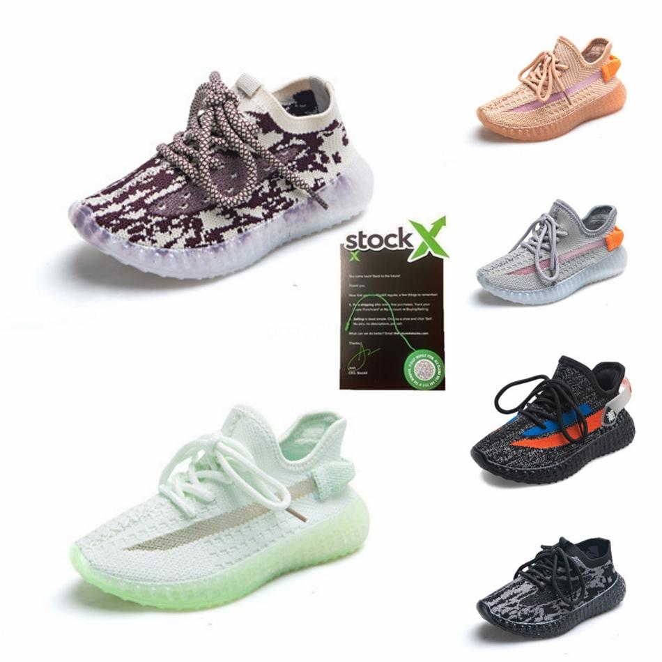 Kids Static Kanye Running Shoes Designer Kanye West Toddler Sneakers Shoes For Boys Girls Kids With Box #166