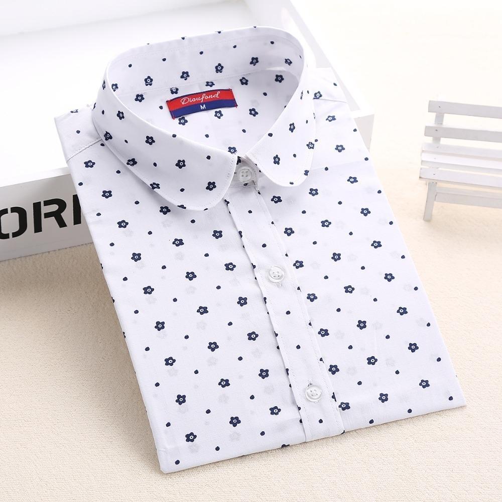Bayanlar Tasarımcı Yaka Bluz Casual Uzun Kollu blusas Feminina Turn Down Bluz Kadınlar Çiçek Baskı Bayanlar Gömlek 5XL Polka Dot Tops Tops