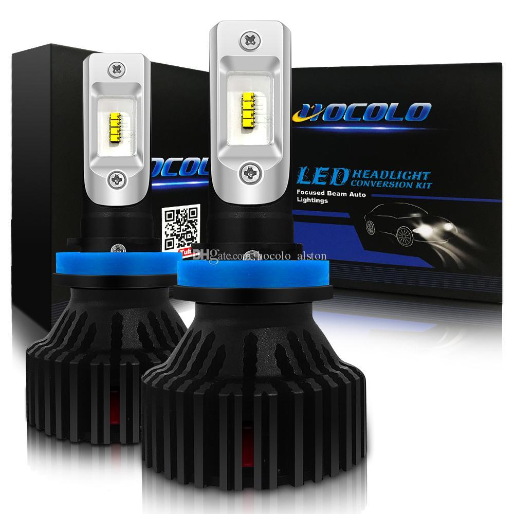 2x COB Car H8//H8//H11 72W 8000LM S2 LED Headlight Conversion Kit Beam Bulbs 6500K