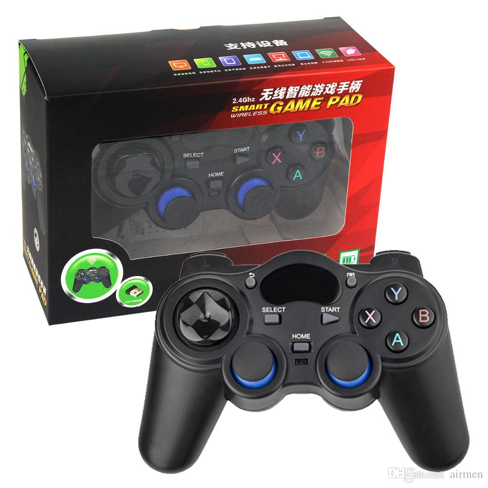 New 2.4G Gamepad Android Controllers Wireless Gamepad Joystick Android Controller for Tablet PC Smart TV Box DHL free