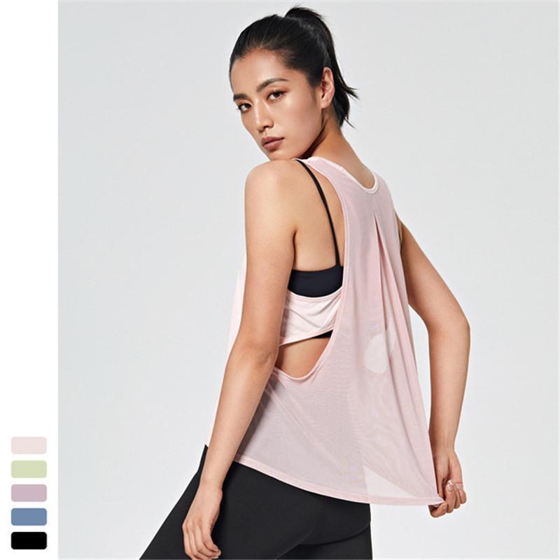 Kadınlar Çapraz Yelek Yoga Gömlek Vücut Geliştirme Fitness Spor tişört Spor Hızlı kuruyan Egzersiz Yelek Kolsuz Yoga Koşu
