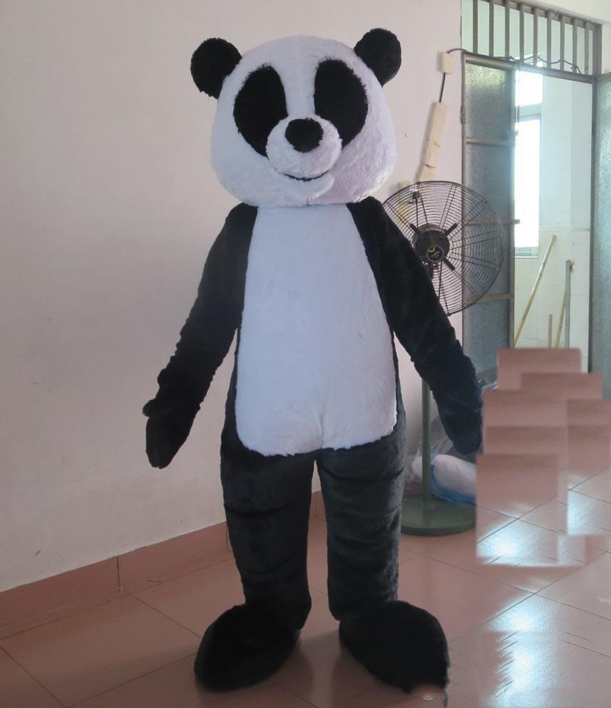 Factory Outlets the head plush panda bear mascot costume for adult to wear for sale