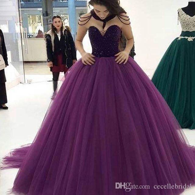 prom princess purple ball gown