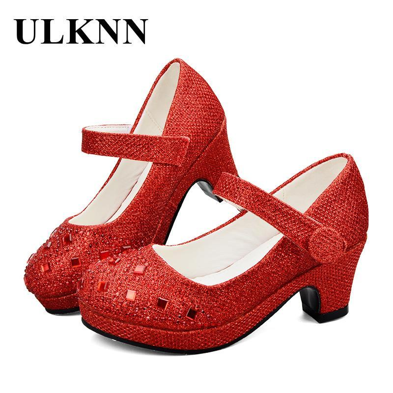 ULKNN Girls High Heel Shoes For Girls