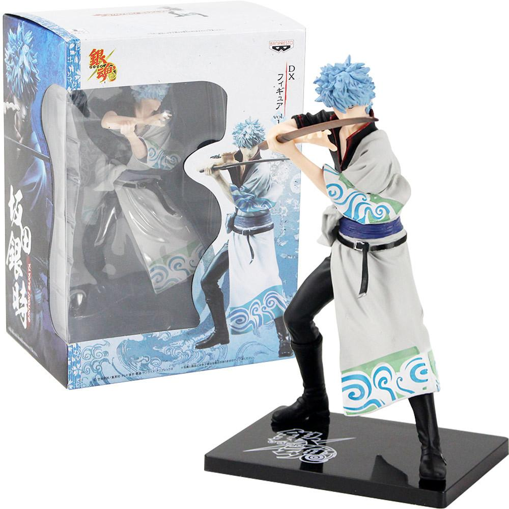 18cm Gintama Silver Soul Sakata Gintoki Banpresto DX Vol.1 PVC Action Figure Doll Collection Model Toy Gift T191214