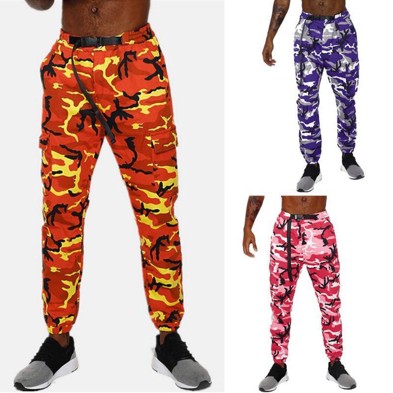 pantaloni uomo harem Cotone Camouflage pantaloni da uomo Camouflage Pocket Tuta casuale Pocket Sport Lavoro Sashes pantaloni pantaloni Z402