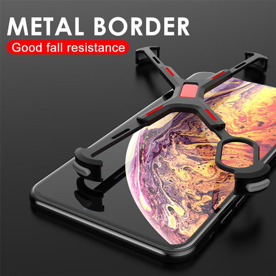 Venda Por Atacado de metal de alumínio bare quadro case para iphone xs xs max à prova de choque em forma de x bumper capa para iphone xs max x xr proteger case