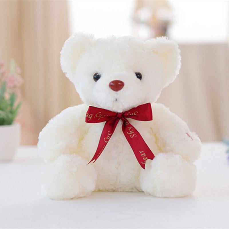 1pc Sitting Size 25cm Luminous Plush ToyStuffed Animal Teddy Bear Stuffed Doll Baby Sleeping Toy Lowest Price Best Gift for Kid