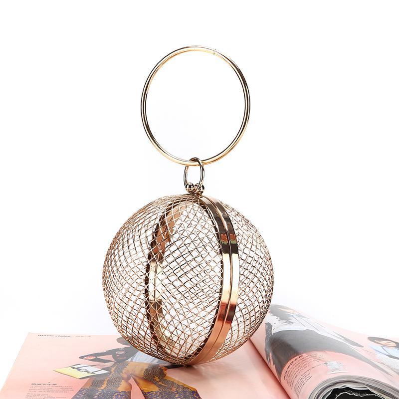 Usine direct Grossiste Boule à balles faite à la main sac de soirée en métal Net embrayage pour banquet