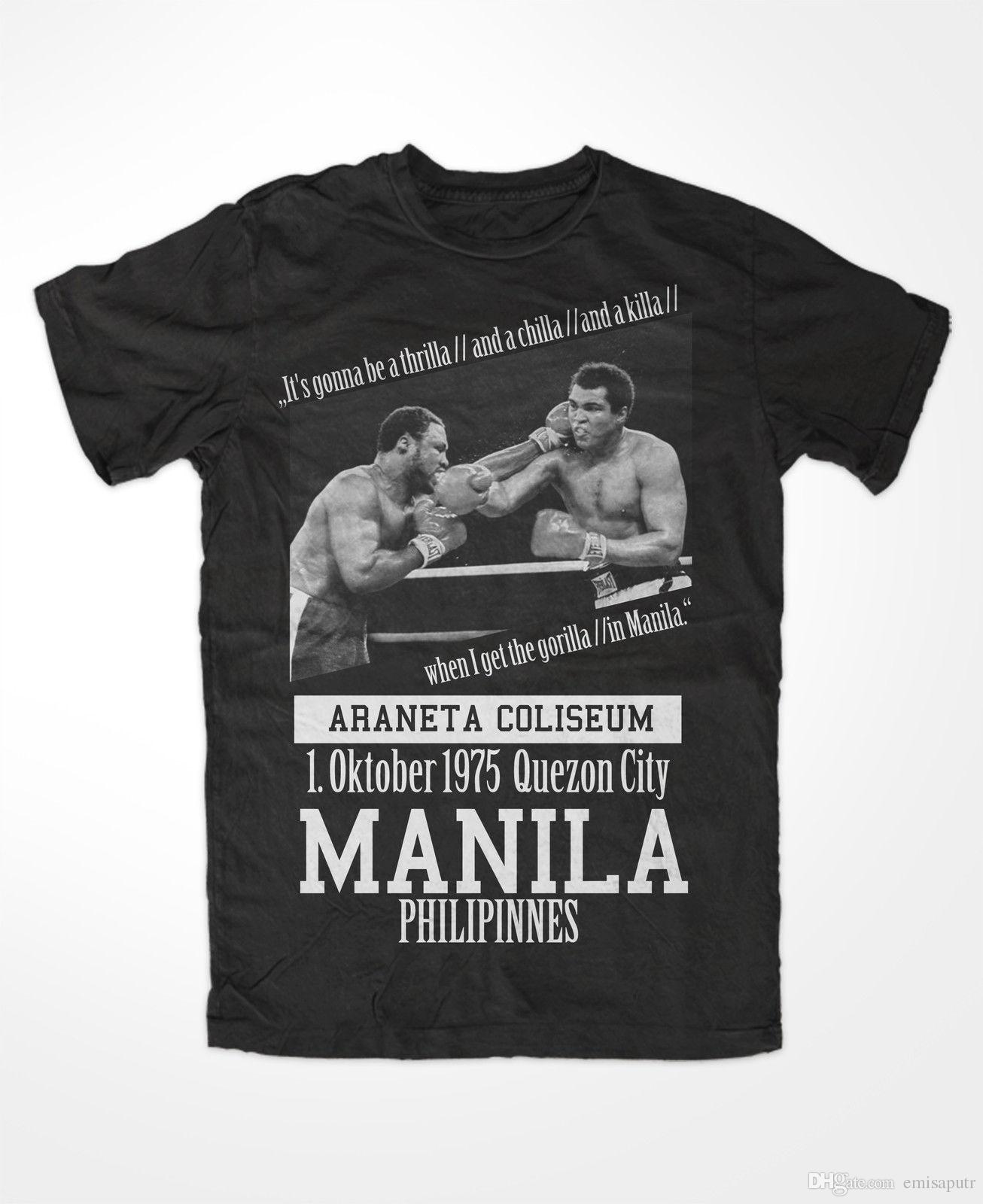 Boxing thrilla à Manille T-shirt Muhammad Ali 3 Ko King of the ring Greatest