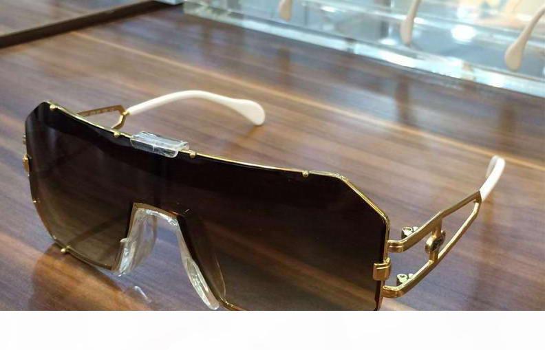 Старинные квадратные солнцезащитные очки легенды 904 золото коричневый затененные мужские Роскошные дизайнерские солнцезащитные очки Очки Очки новые с коробкой