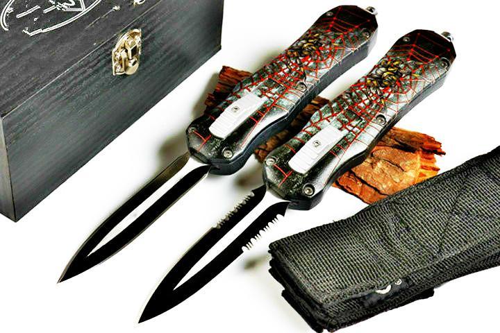 muharebe kırmızı ve beyaz 4 model cep aracı sabit bıçak koleksiyonu katlanır çift eylem hellhoud Noel hediyesi Bıçaklar