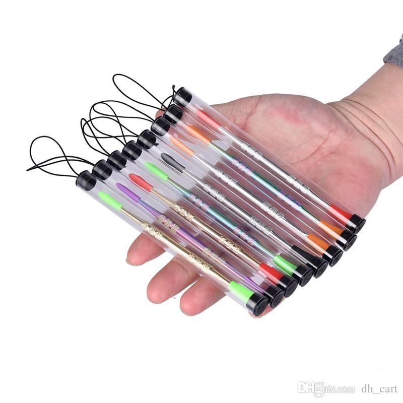 왁스 dabber 도구 자아 evod 왁 스 석유 장비 dab 도구 실리콘 커버 왁 스 dabber vape 펜 건조 약 기화 기용 포장 튜브