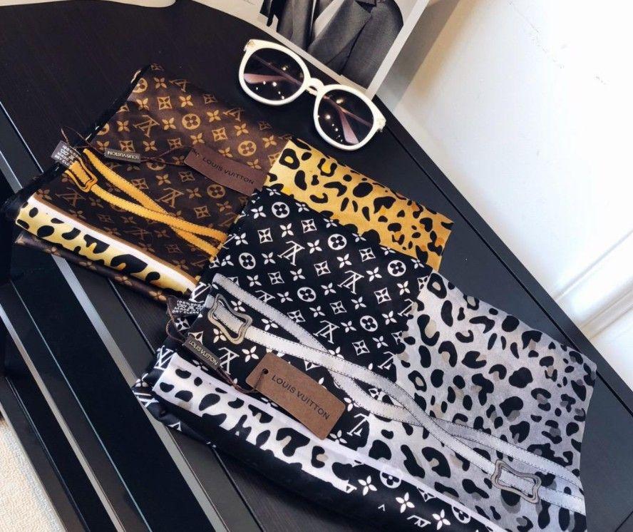 Женский дизайнерский шелковый шарф хай-тек леопардовая цепная печать с рисунком дизайн мягкой шелковой ткани светлые спецификации 90-180см