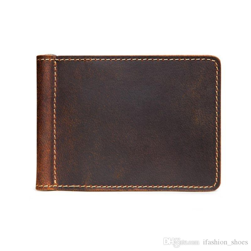 High Quality Hot Portable Ultra-Thin Simple Leather Bifold Mini Wallet #302732