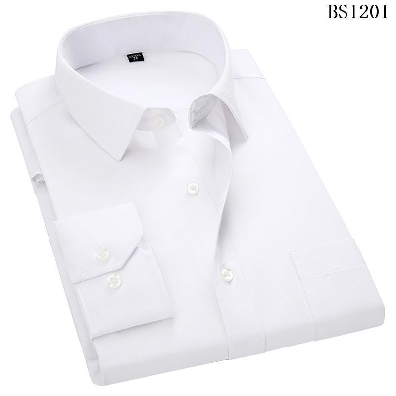 더하기 대형 8XL 7XL 6XL 5XL 4XL Mens 비즈니스 캐쥬얼 긴팔 셔츠 클래식 스트라이프 남성 사회 복장 셔츠 보라색 블루