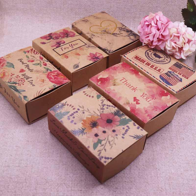 New Hot Mult Designs Printed Gift Box Diy Handmade Love Wedding Favor Box Gift Package Soap Baby Shower Gift Wrapping Paper Manufacturers Gift