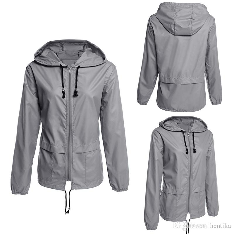 official supplier bright n colour hot-selling genuine Ladies Lightweight Jackets Full Sleeve Plus Size Zipper Sportswear Hooded  Raincoat Waterproof Women Coats Hooded Jackets Jackets Sale From Hentika,  ...