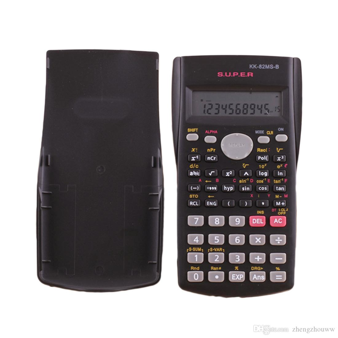 Handheld Student's Scientific Calculator 2 Line Display 82MS-B Portable Multifunctional Calculator for Mathematics Teaching