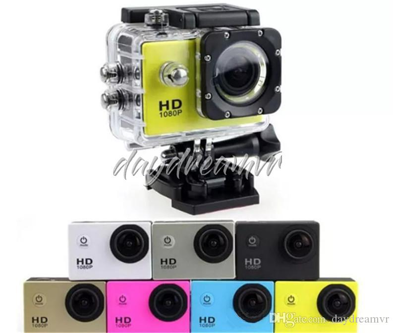 Imitate A9 2 Inch LCD Screen 1080P Helmet Sports DV Video Car Cam DV Action Waterproof Underwater 30M Sports Camera Camcorder cheap