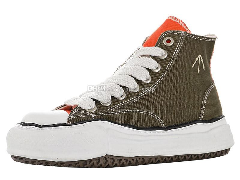 Mens Nigel Cabourn Canvas Shoes for Men's Maison Mihara Yasuhiro High Sneakers Womens Original Sole Boots Women's Sports Boot Chunky Sneaker